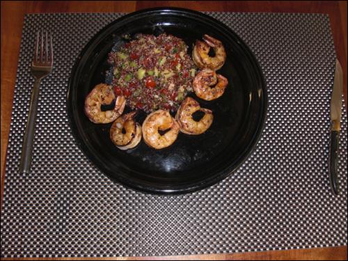 Grilled Shrimp with Tabouli Salad