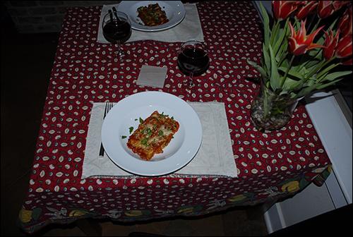 Spinach-Mushroom Cannoli