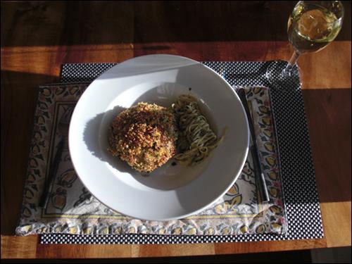 Stuffed Portobella and Pasta