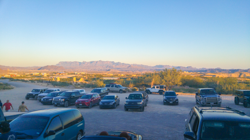 Beautiful downtown Terlingua, as viewed from the Starlight Theatre
